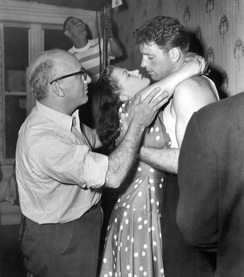 Robert Siodmak with Yvonne De Carlo & Burt Lancaster