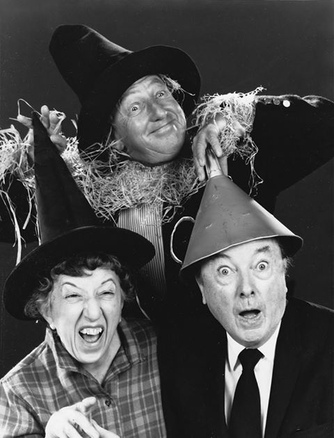 Margaret Hamilton, Jack Haley, and Ray Bolger, reprising their roles from The Wizard of Oz
