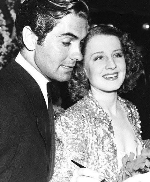 Tyrone Power & Norma Shearer