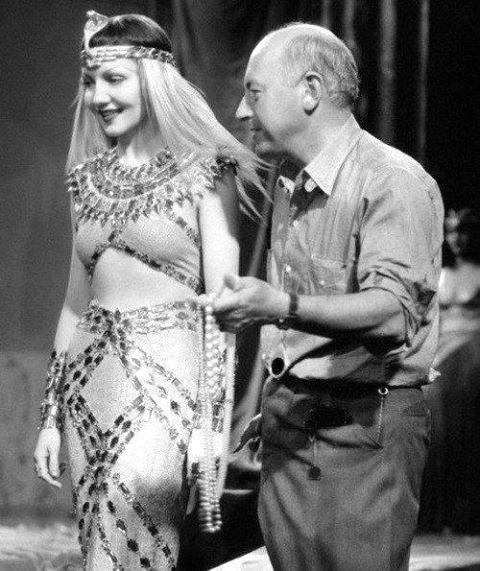 Cecil B. DeMille & Claudette Colbert