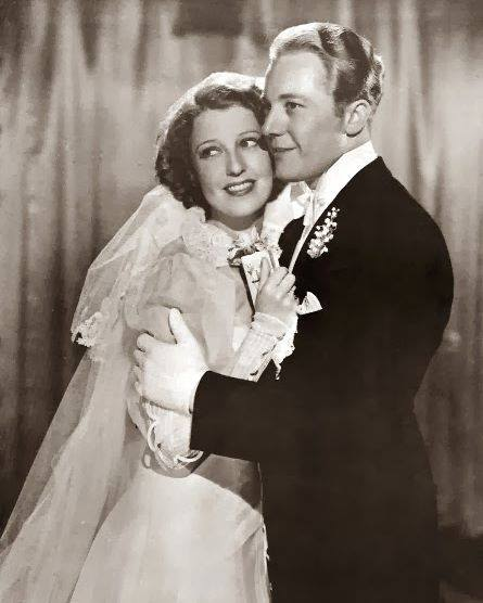 Gene Raymond and Jeanette MacDonald on their wedding day.