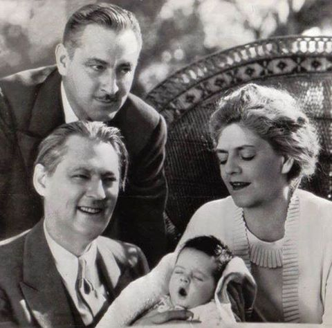 Ethel Barrymore with her brothers John and Lionel and her nephew John Jr. in 1932)