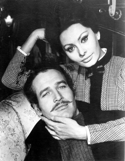 Paul Newman with Sophia Loren