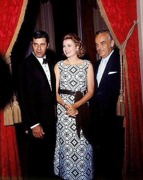 Princess Grace & Prince Rainier with Jerry Lewis