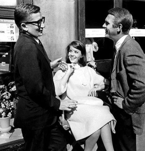 Robert Mulligan with Natalie Wood and Steve McQueen
