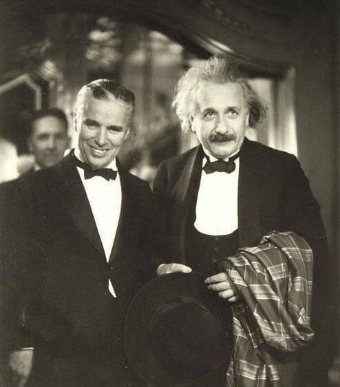 CHARLIE CHAPLIN with ALBERT EINSTEIN
