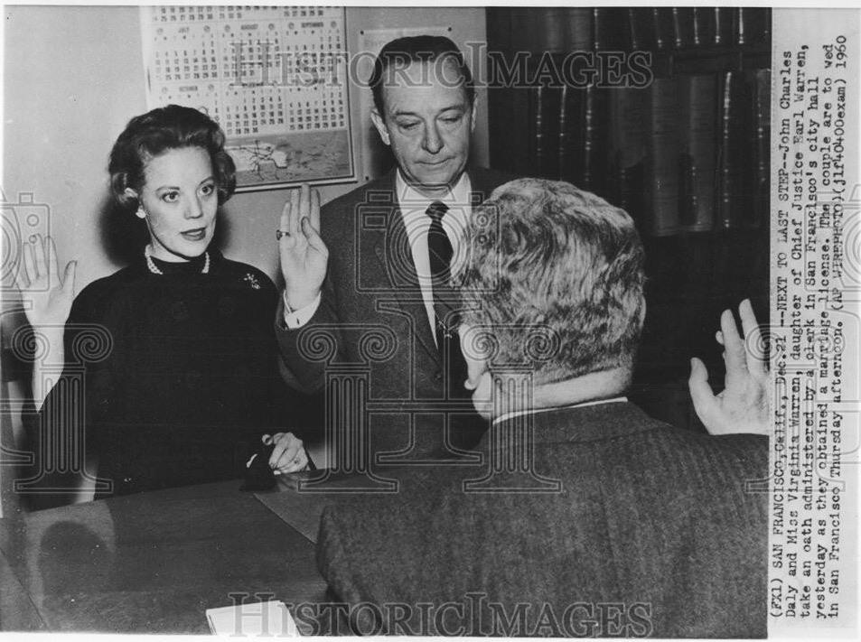 John Daly married Virginia Warren in 1960