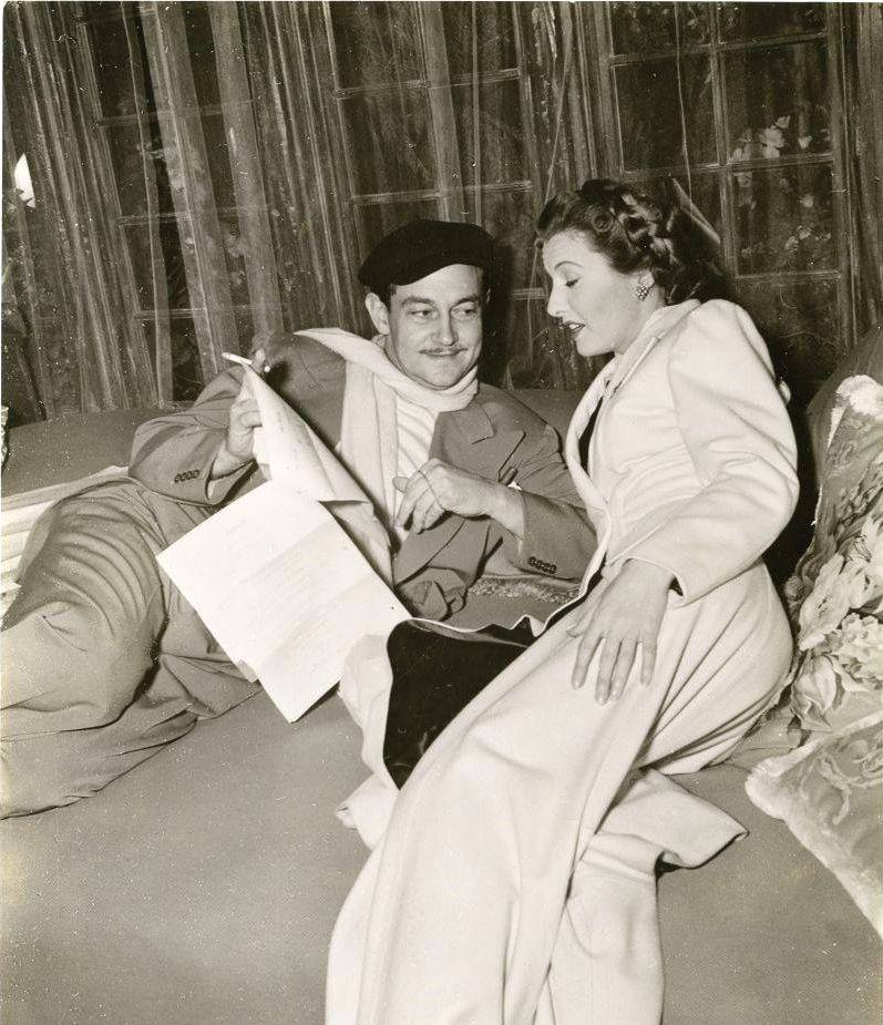 Preston Sturges with Barbara Stanwyck
