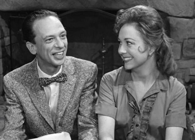 Don Knotts and birthday girl Betty Lynn