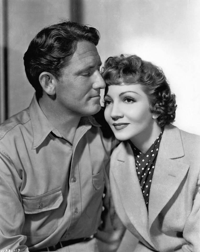 Spencer Tracy e Claudette Colbert