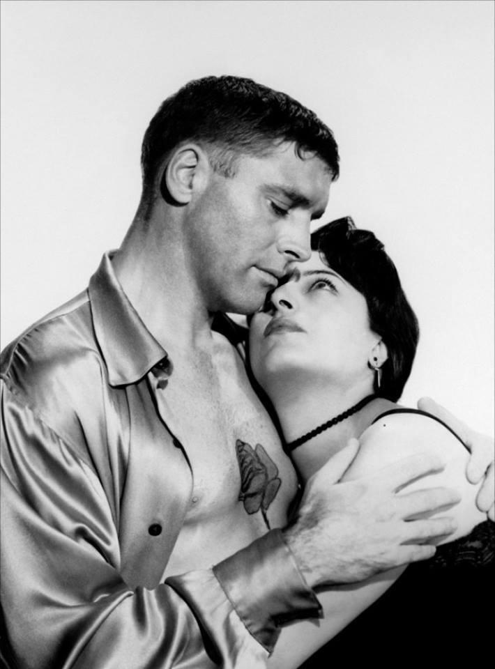 Burt Lancaster e Anna Magnani