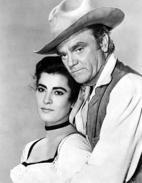James Cagney & Irene Papas