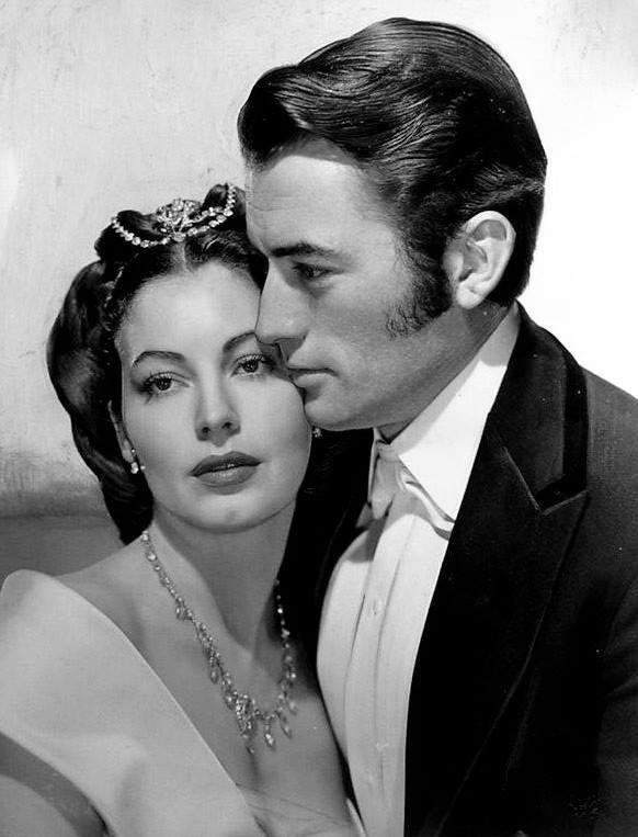 Gregory Peck e Ava Gardner