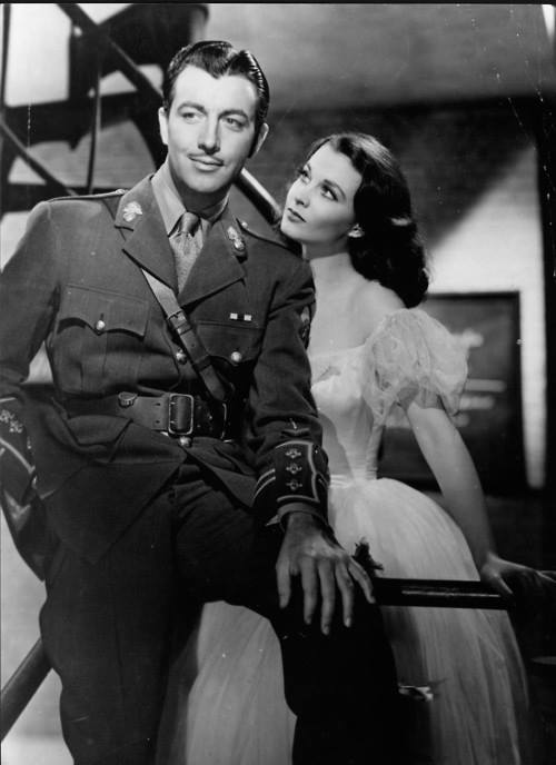 Vivien Leigh and Robert Taylor