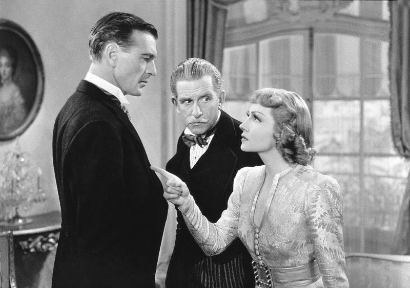 Gary Cooper, Edward Everett Horton & Claudette Colbert