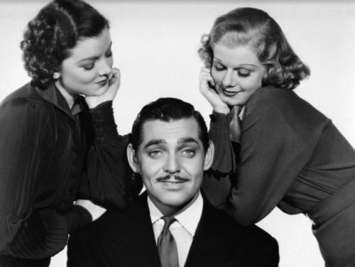 Myrna Loy , Clark Gable & Jean Harlow