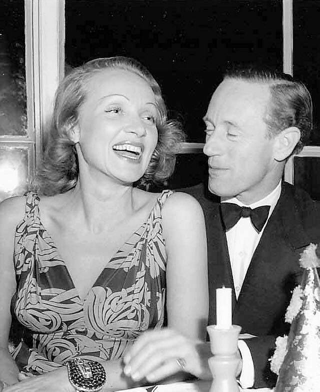 Marlene Dietrich and Leslie Howard