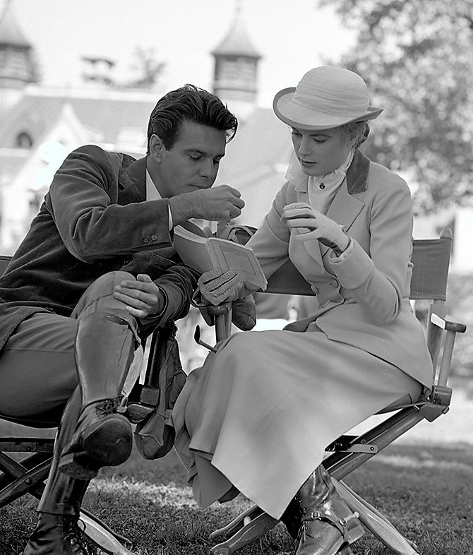 Grace Kelly with Louis Jourdan