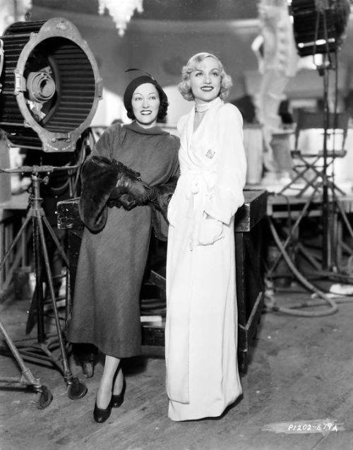 Carole Lombard with Gloria Swanson