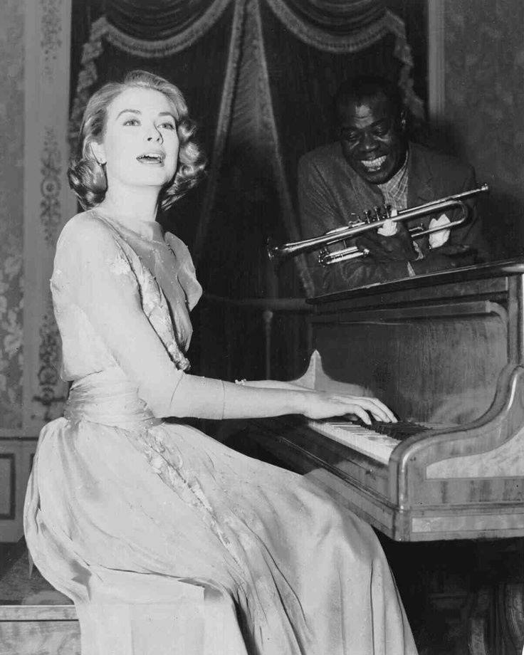 Grace Kelly with Louis Armstrong