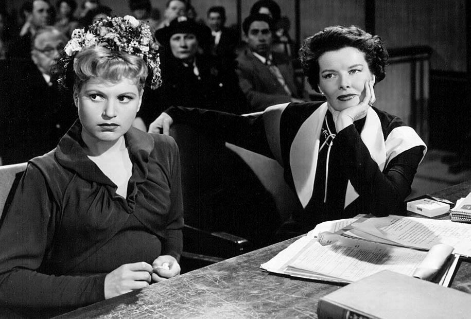 Judy Holiday & Katharine Hepburn