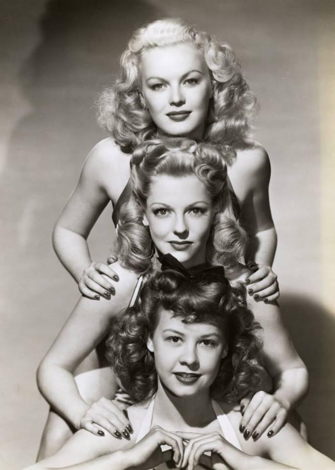 June Haver, Vivian Blaine, and Vera-Ellen