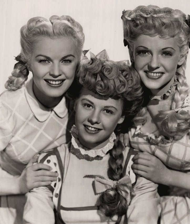 June Haver, Vera-Ellen, and Vivian Blaine