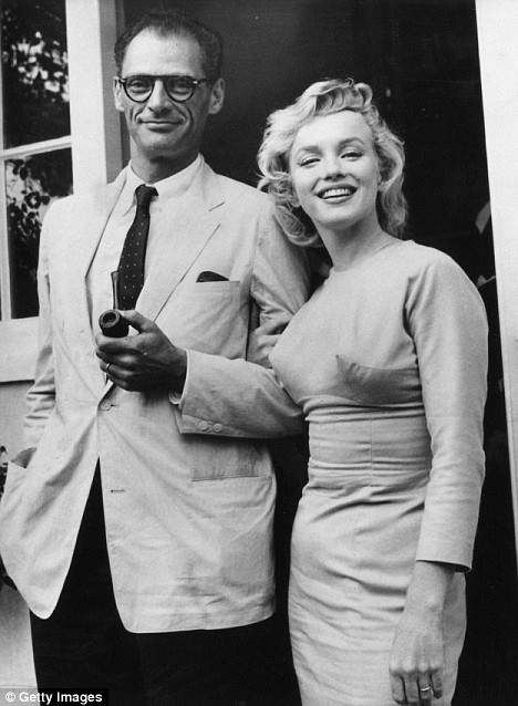 Arthur Miller with his wife Marilyn Monroe.