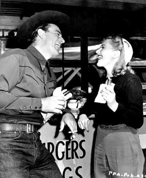 Jean Arthur with John Wayne