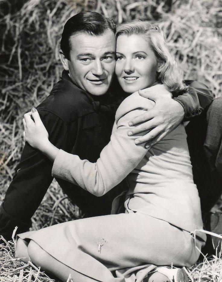John Wayne & Jean Arthur