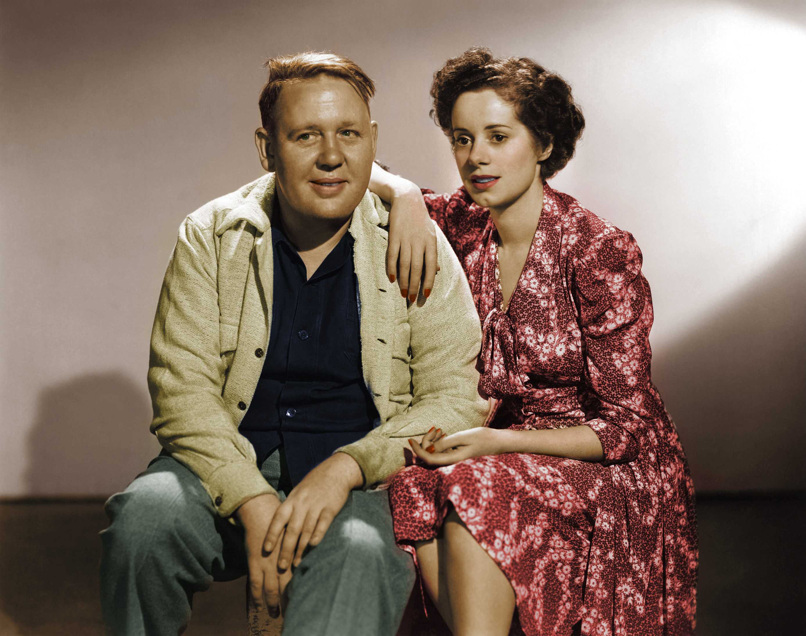 Charles Laughton with Elsa Lanchester