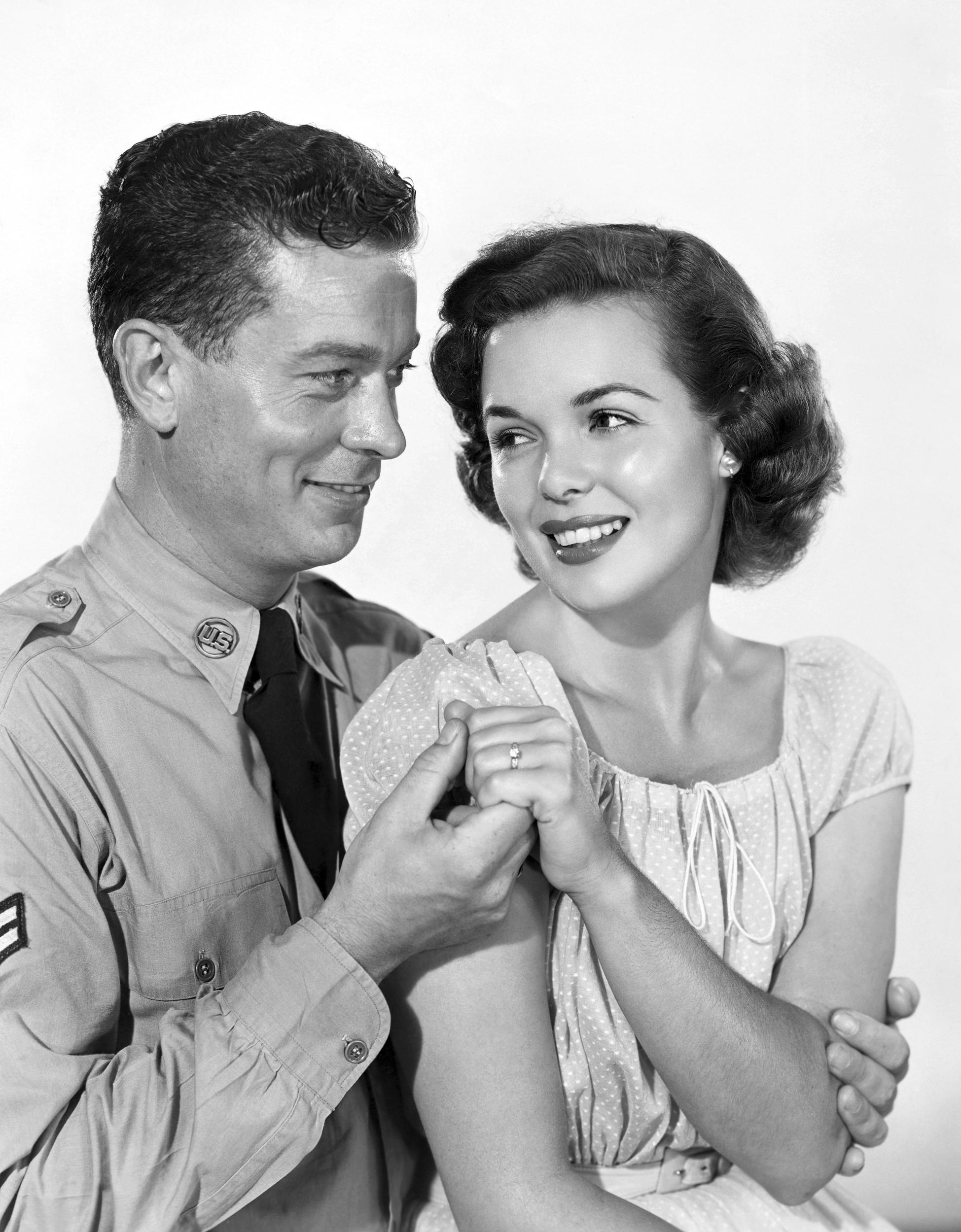 Nancy Gates with Arthur Franz