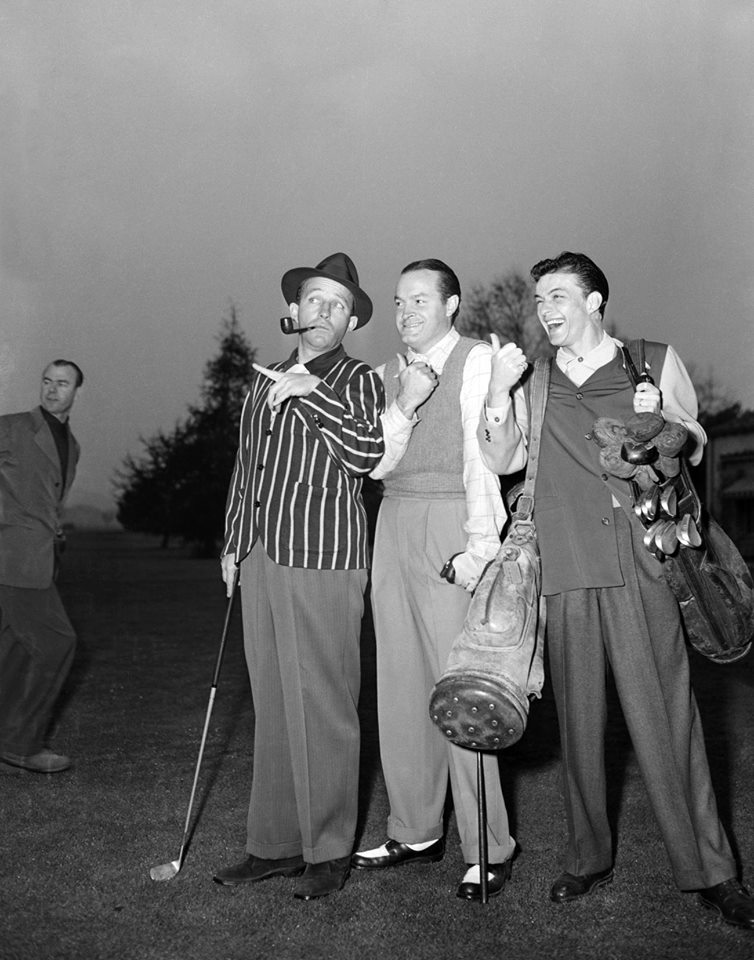 Bing Crosby, Bob Hope, and Frank Sinatra
