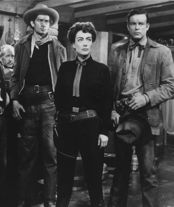 Royal Dano, Joan Crawford and Scott Brady