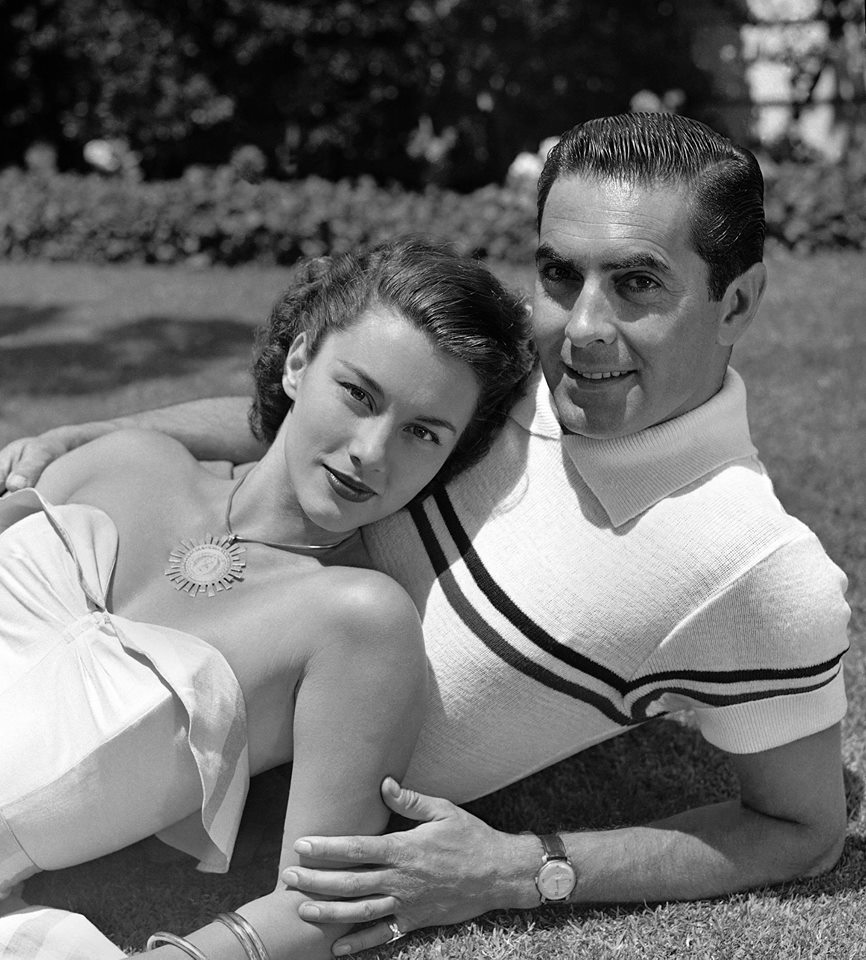 Tyrone Power's second wife who appeared in such films as 1948's
