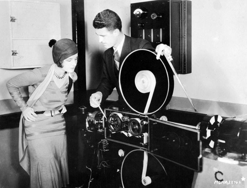 Norma Shearer with her brother engineer Douglas Shearer.
