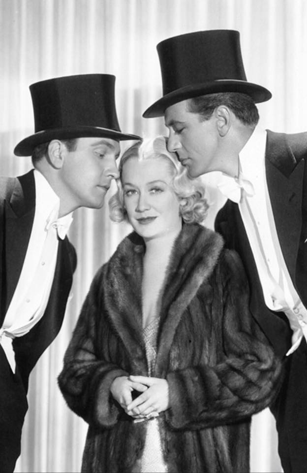 Fredric March,Miriam Hopkins and Gary Cooper