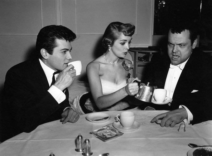 Tony Curtis, Janet Leigh and Orson Welles