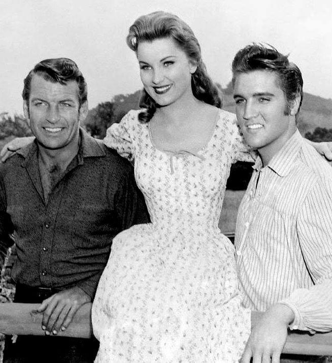 Richard Egan, Debra Paget & Elvis Presley
