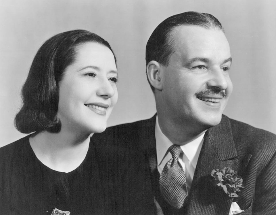 Lynn Fontanne and her husband Alfred Lunt