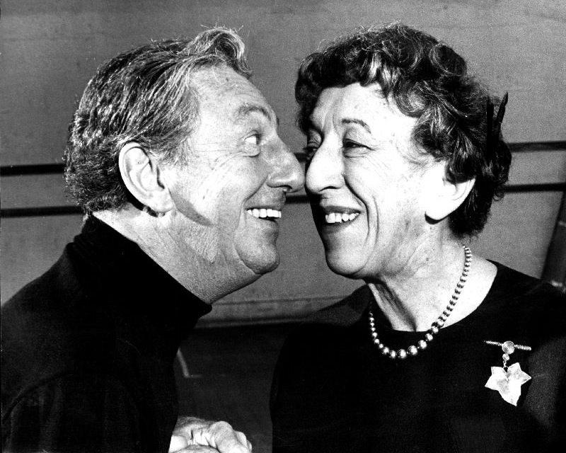 Ray Bolger and Margaret Hamilton