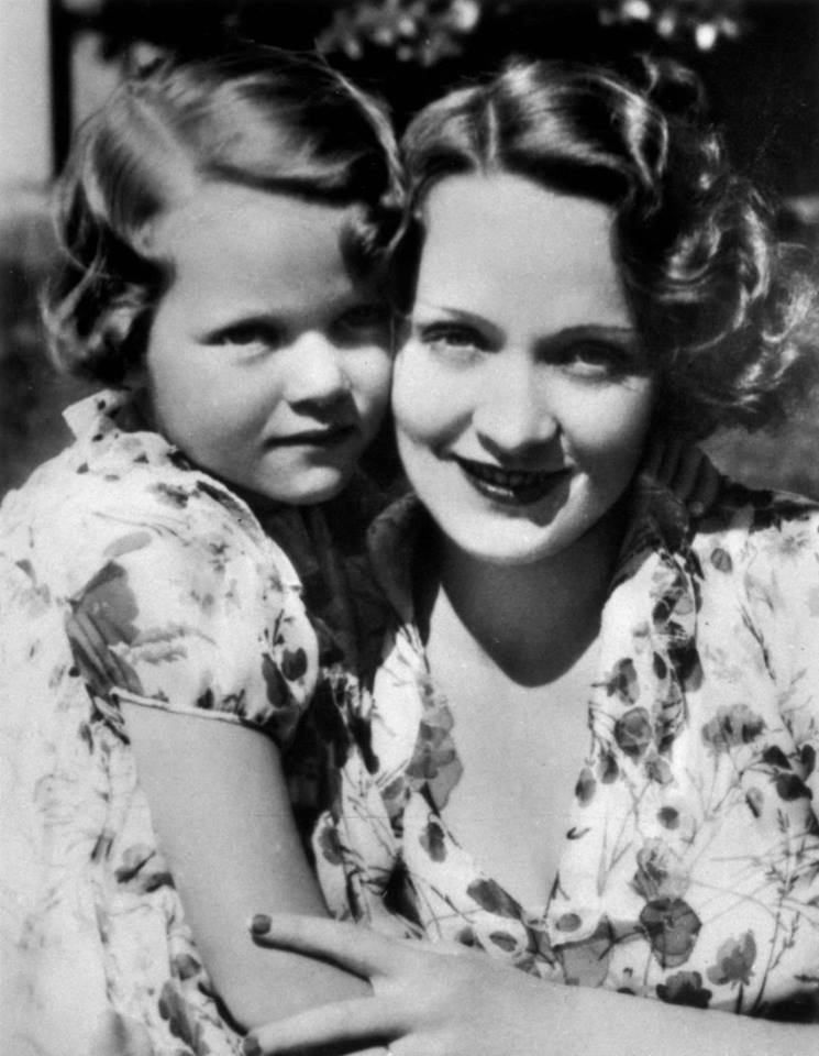Maria Riva with her mother Marlene Dietrich