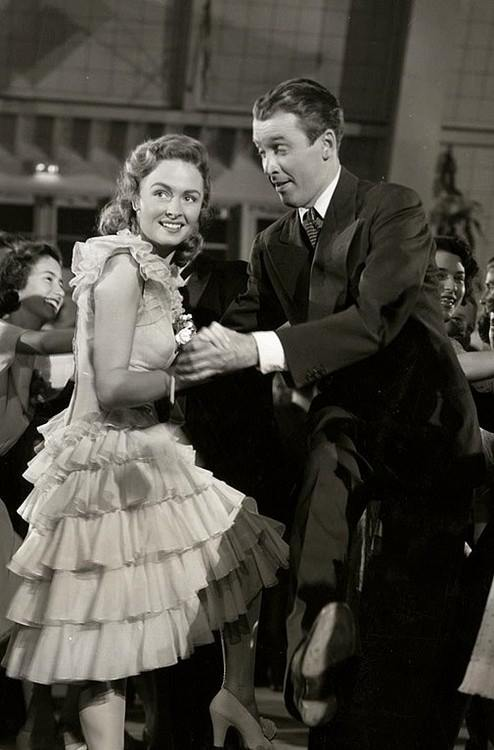 Donna Reed and Jimmy Stewart