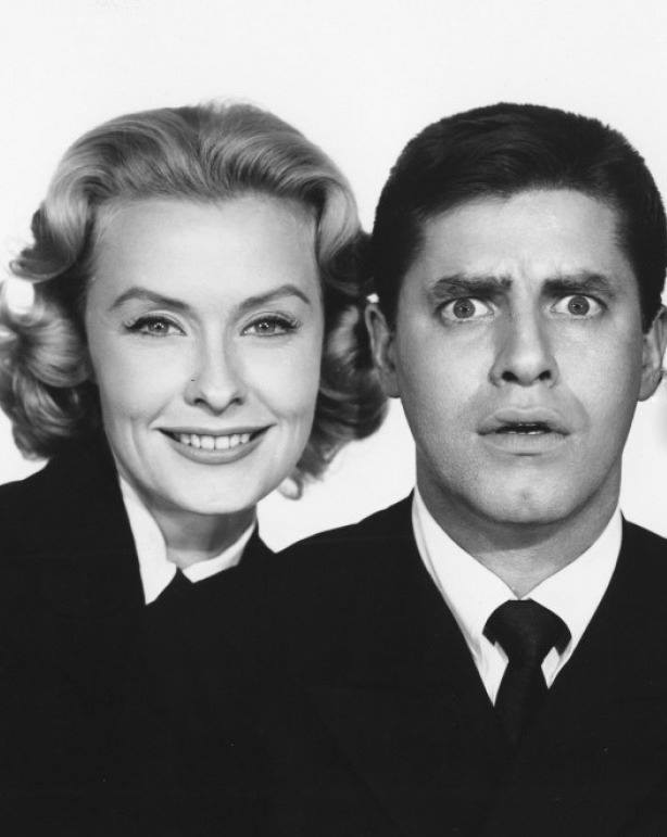 Dina Merrill with Jerry Lewis