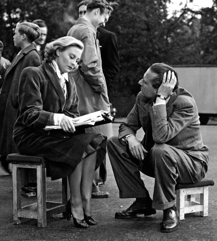 Carol Reed with Michèle Morgan