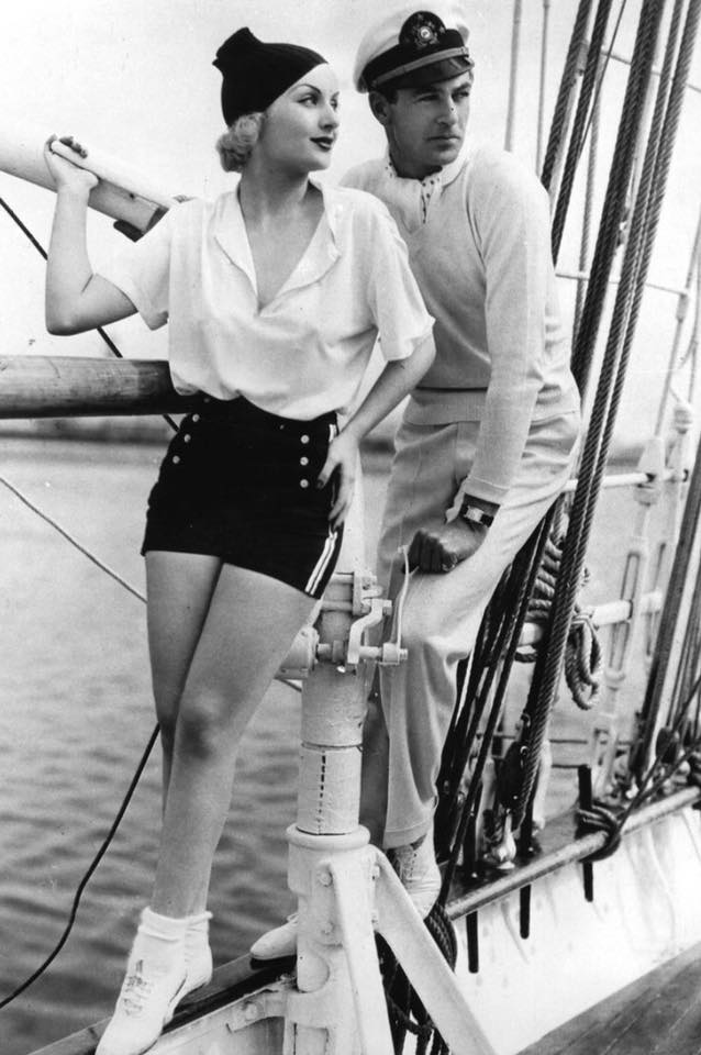 Carole Lombard and Gary Cooper,