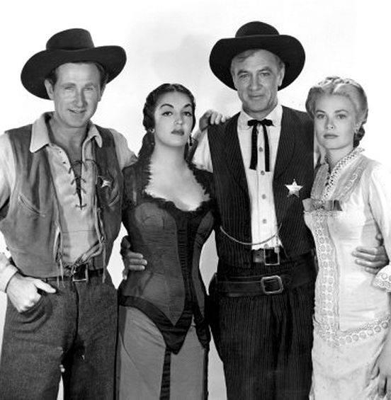 Lloyd Bridges, Katy Jurado, Gary Cooper and Grace Kelly