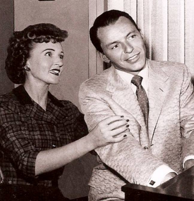 Betty White with Frank Sinatra
