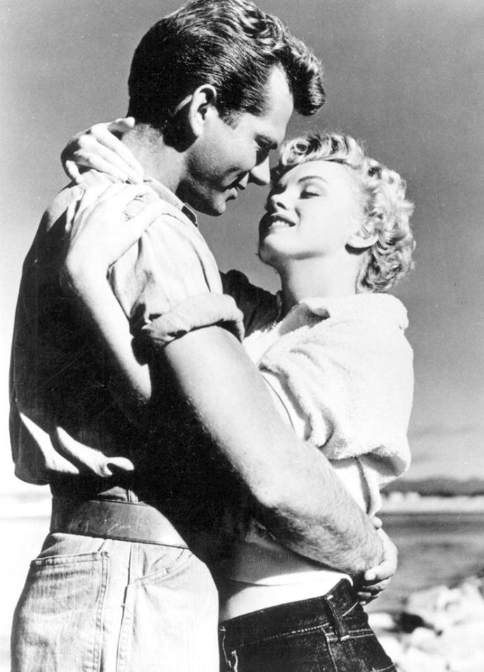 KEITH ANDES & MARILYN MONROE