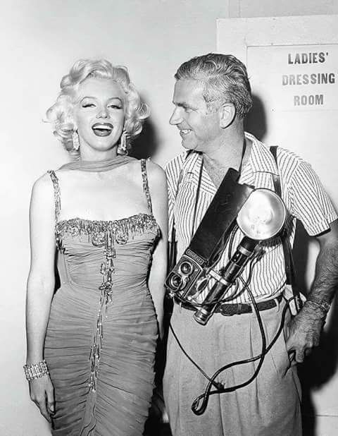 Marilyn Monroe with Bruno Bernard
